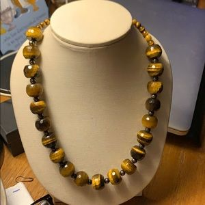 Fashion Bead Necklace and Stretch Bracelet